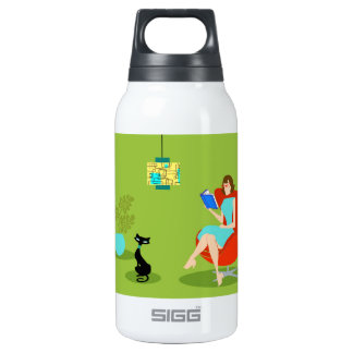 Retro Reading Woman SIGG Thermo Bottle