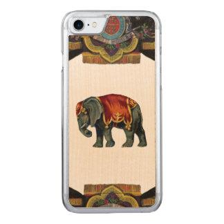 RETRO REBEL Circus Elephant Wood Carved iPhone 7 Case
