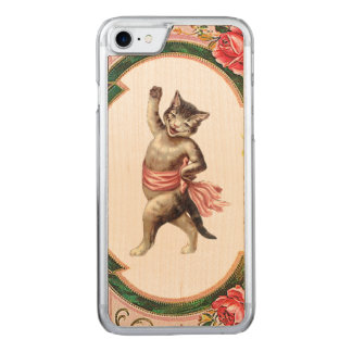 RETRO REBEL Kitty Cabaret  iPhone 5/5S Slim Wood Carved iPhone 7 Case