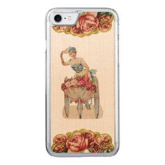 RETRO REBEL Rose Seller iPhone 5/5S Slim Wood Carved iPhone 7 Case