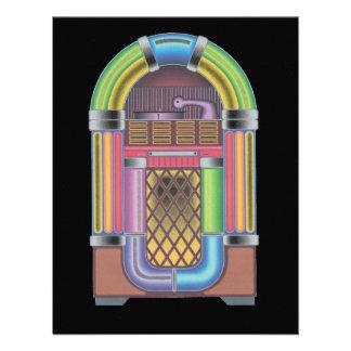 Retro Record Hop Jukebox Music Reunion Invitation