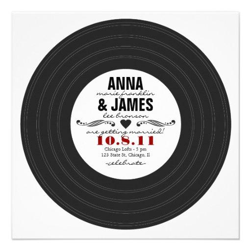 Retro Record Invitation