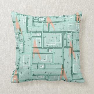 Retro Rectangles Throw Pillow