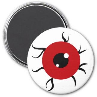 Retro Red and Black Eyeball Refrigerator Magnets
