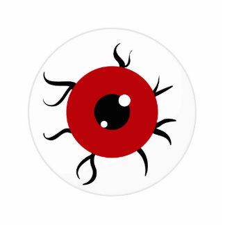 Retro Red and Black Eyeball Photo Cutout