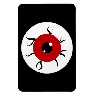 Retro Red and Black Eyeball Vinyl Magnets