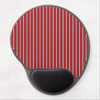 Retro Red and Black Striped Pattern Gel Mousepad