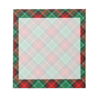 Retro Red and Green Holiday Plaid Notepad