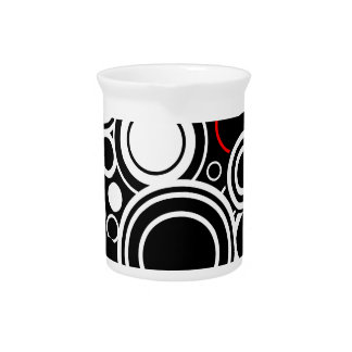 Retro Red And White Circles Pitcher