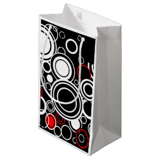 Retro Red And White Circles Small Gift Bag