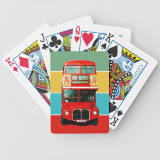 Retro Red Bus from London Poker Deck