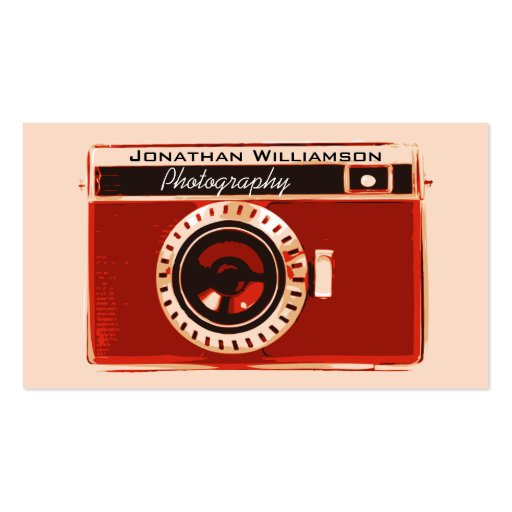 Retro Red Camera Photography Business Cards Business Cards