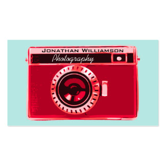 Retro Red Camera Photography Business Cards