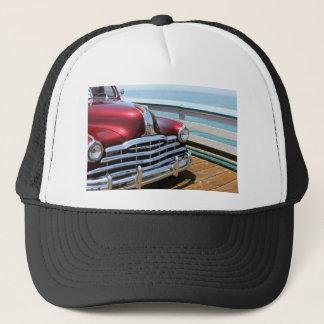 Retro Red Car Trucker Hat