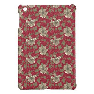 Retro Red Floral iPad Mini Cover