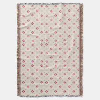Retro Red Flower Gold Star Vintage Wallpaper Throw Blanket