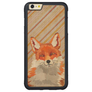 Retro Red Fox Stripes Carved iPhone Case Carved® Maple iPhone 6 Plus Bumper