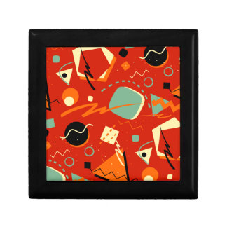 Retro Red Geometric Gift Boxes