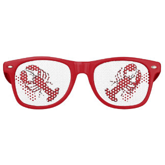 Retro red  lobster rockabilly sunglasses red