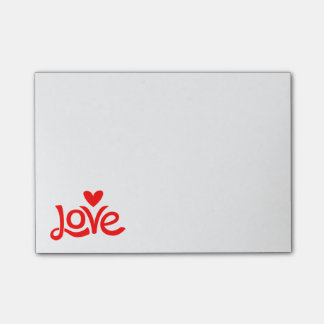 Retro Red Love Heart  - Wedding, Dating Engagement Post-it Notes