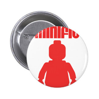 Retro Red Minifig by Customize My Minifig Pins