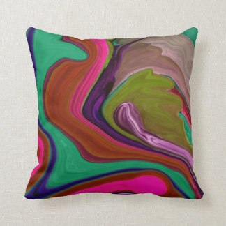 Retro red remix abstract art throw cushion