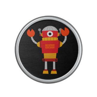 Retro Red Robot Bluetooth Speaker