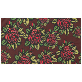Retro red roses Table cloth Tablecloth