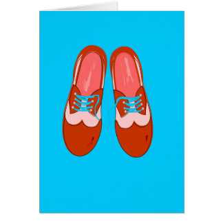Retro Red Shoes Stationery Note Card
