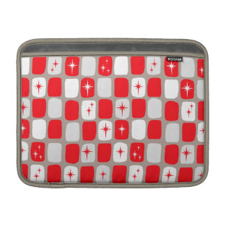 Retro Red Starbursts MacBook Sleeve