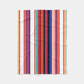Retro Red Stripes Fleece Blanket