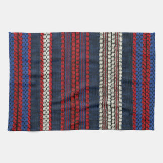 Retro Red White and Blue Hipster Fun Striped Kitchen Towels