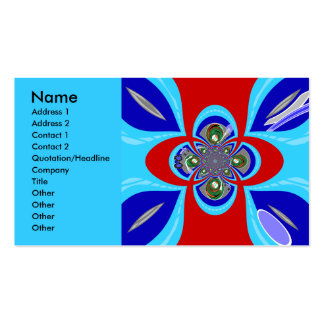 Retro red white blue turntable design pack of standard business cards