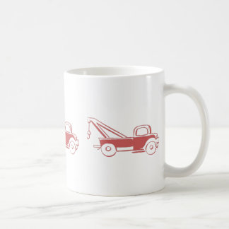 Retro Red Wrecker Truck Basic White Mug