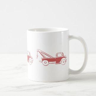 Retro Red Wrecker Truck Coffee Mug