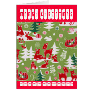 Retro Reindeer Romp Card