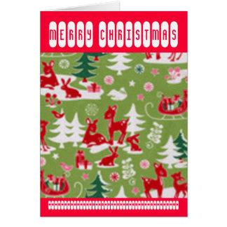 Retro Reindeer Romp Greeting Card
