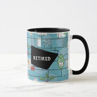 Retro Retired 1950s Mid-Century Modern Mug