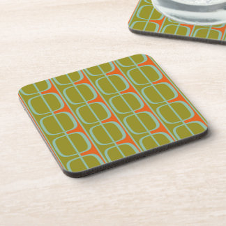 Retro Retro Squares and Stripes Cork Coasters
