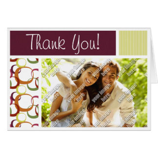 Retro Rings Pattern Stationery Note Card