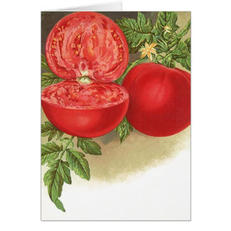 Retro Ripe Tomatoes Blank Cards Farmers Market