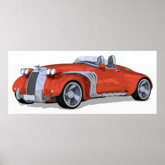 Retro Roadster Poster
