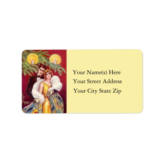 Retro Roaring 20s Vintage Christmas Address Label