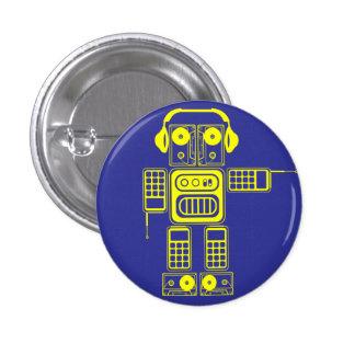 Retro Robot (Blue) Flair Button