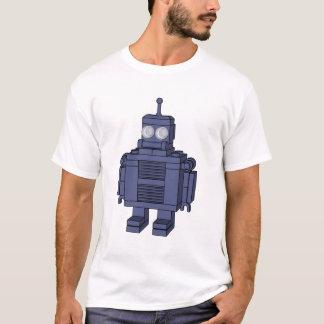 Retro Robot - Blue T-Shirt