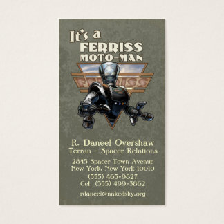 Retro Robot Business Card