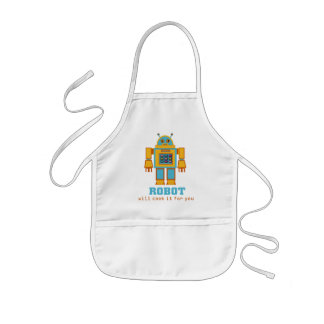 Retro Robot Kids Apron