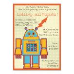 Retro Robot-kids birthday invitation -4