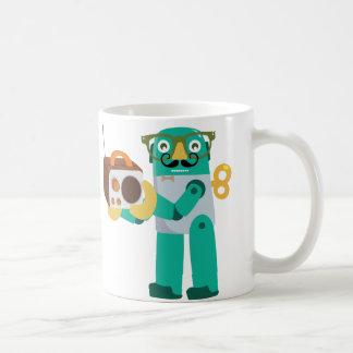 Retro Robot with Radio Coffee Mug
