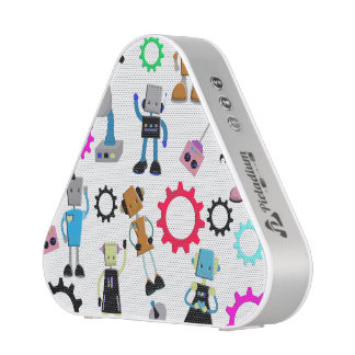 Retro Robots Bluetooth Speaker